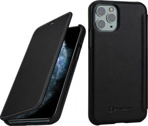 Etui skórzane do na Apple iPhone 11 Pro - Book, czarny nappa - 4251706200881