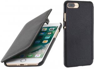 "Etui do na Apple iPhone 7 / 8 Plus (5.5"") - UltraSlim Book, czarny nappa - B01LL42128"
