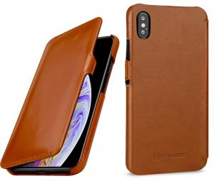 Etui do na Apple iPhone Xs Max - UltraSlim Book, brąz - B07HF71MW1