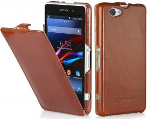 Etui  Sony Xperia Z1 Compact - UltraSlim, brown - B00IF0XMNY