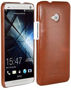 Etui  HTC One M7 - Cover, brown - X0006ZUP1V