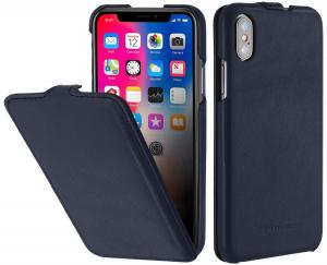 Etui do na Apple iPhone X / Xs - UltraSlim, granatowy nappa - B077Q8T1JY