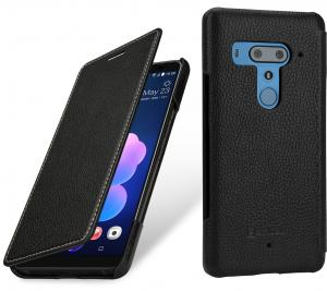 Etui do na HTC U12+ - Book, czarny - B07DCMLGWQ