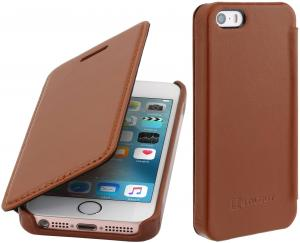 Etui  Apple iPhone SE/5/5s - Book, brown - B01DXQ55XY