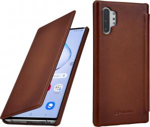 Etui do na Samsung Note 10+ - Book, brąz Antik - B07WFV3RLQ