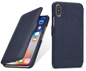 Etui do na Apple iPhone X / Xs - UltraSlim Book, darkrniebieski nappa - B0784G5WM8