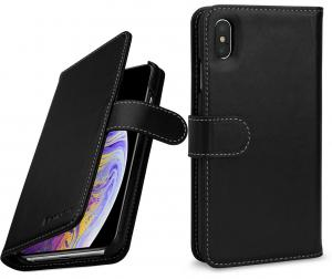 Etui do na Apple iPhone Xs Max - Talis, czarny nappa - B07HF74ZQR