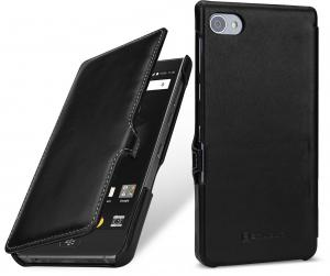 Etui do na Blackberry Motion - UltraSlim Book, czarny nappa - B078WRFD2D