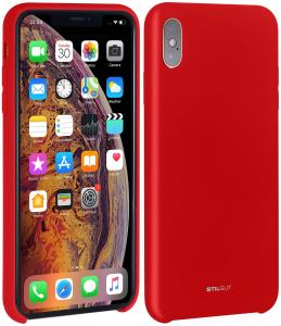 Etui do na Apple iPhone Xs - Silicon czerwony - B07GYCZN25