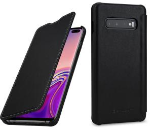 Etui do na Samsung Galaxy S10+ - Book, czarny nappa - B07PDX379J