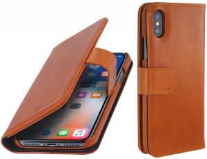 Etui do na Apple iPhone X / Xs - Talis, brązowy - B075JHHX7M