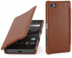 Etui  Sony Xperia Z5 Compact - Book, brown - B0156MMXQA