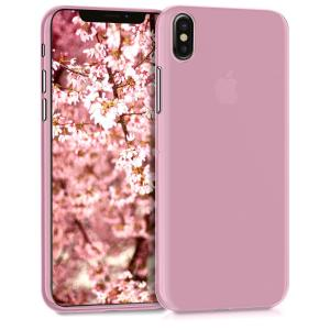 Etui do na Apple iPhone X plastic TPU cover różowe złoto - 4057665317994