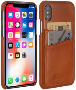 Etui do na Apple iPhone X / Xs - Cover, czarny nappa - B078WSB48H
