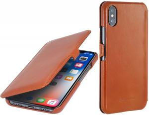 Etui do na Apple iPhone X / Xs - UltraSlim Book, brązowy - B075JGGCPM