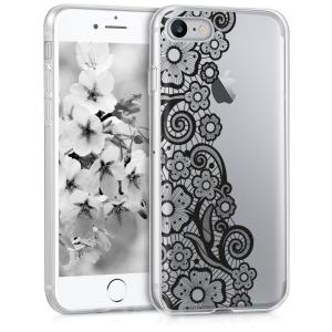 Etui do na Apple iPhone 7/8 - Crystal TPU kwiat - 4057665232112