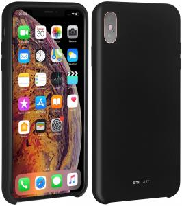 Etui do na Apple iPhone Xs - Silicon czarny - B07GYSH8P6