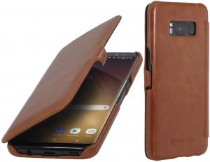 Etui Samsung Galaxy S8 Plus - UltraSlim Book, brown - B06XWF5X56