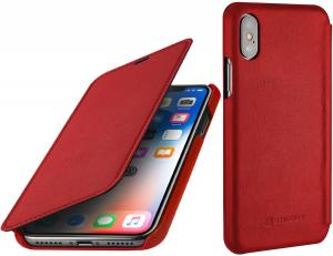Etui do na Apple iPhone X / Xs - Book, czerwony nappa - B0784G5MV6