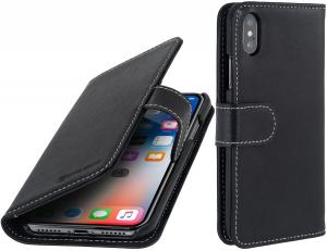 Etui do na Apple iPhone X / Xs - Talis, czarny nappa - B075JHMTY9