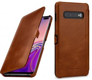 Etui do na Samsung Galaxy S10+ - UltraSlim Book, brąz - B07PDXPTZ8