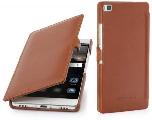 Etui  Huawei P8 - UltraSlim Book, brown - B00Z6CMEGK