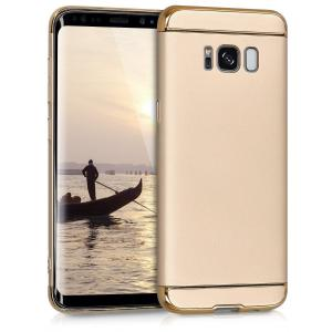 Etui do na Samsung Galaxy S8 Metallic beżowo złoty - 4057665246072