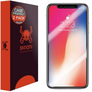 Skinomi Folia ochronna do iPhone X - screen, 2 pak - B06XSPPDYD