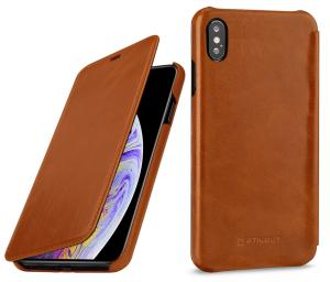 Etui do na Apple iPhone Xs Max - Book, brąz - B07HF7RL7V