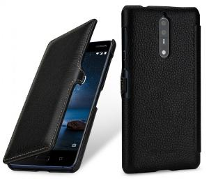 Etui do na Nokia 8 - UltraSlim Book, czarny - B075M7674V