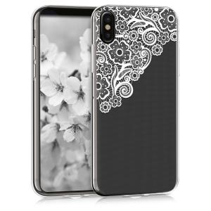 Etui do na Apple iPhone X Crystal TPU Flower sea - 4057665271999