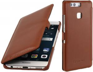 Etui  Huawei P9 - UltraSlim Book, brown - B01DZN55PI