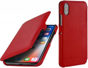 Etui do na Apple iPhone X / Xs - UltraSlim Book, czerwony nappa - B077QHSGX2