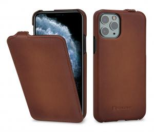Etui skórzane do na Apple iPhone 11 Pro - UltraSlim, brąz Antik - 4251706200669