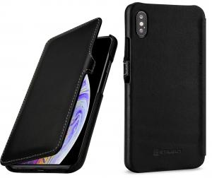 Etui do na Apple iPhone Xs Max - UltraSlim Book, czarny nappa - B07HF8B6V3