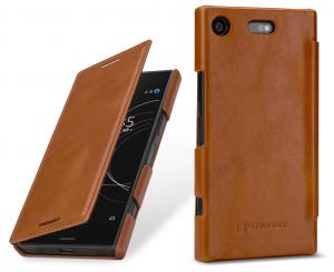 Etui Sony Xperia XZ1 compact - Book, brown - B0761ML6H7