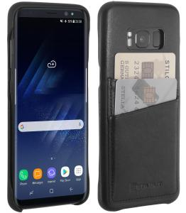 Etui Samsung S8 Plus - Cover BackWallet, black nappa - B0716T64YY