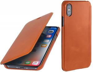 Etui do na Apple iPhone X / Xs - Book, brązowy - B075JHCWS9