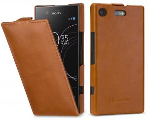 Etui Sony Xperia XZ1 compact - UltraSlim, brown - B0761ML6H4
