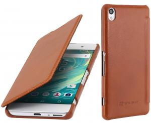 Etui  Sony Xperia XA - Book, brown - B01DY7LOBO