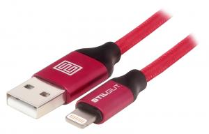 Stilgut - Magic Lightning z USB MFi certyf, czerwony - B076BRC1WD