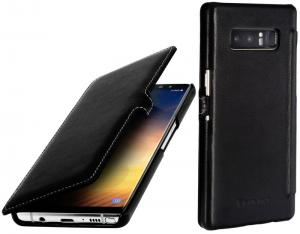 Etui do na Samsung Galaxy Note 8 - UltraSlim Book, czarny nappa - B075JHNTRF