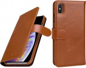 Etui do na Apple iPhone Xs Max - Talis, brąz - B07HF6T3HJ