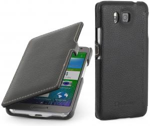 Etui  Samsung Galaxy Alpha - UltraSlim Book, black - B00O7O8UB6