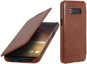 Etui Samsung Galaxy S8 Plus - Book, brown - B06XWT9S27