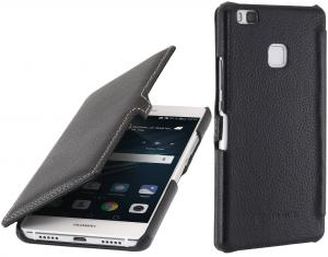 Etui do na Huawei P9 Lite - UltraSlim Book, czarny - B01INCAID0