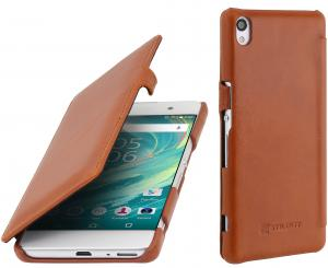 Etui  Sony Xperia XA - UltraSlim Book, brown - B01DY7LJ2S