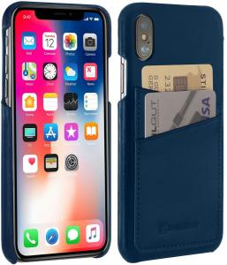 Etui do na Apple iPhone X / Xs - Cover, niebieski - B078BQV4Q2